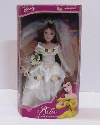 Brass Key Disney Princess Beauty & the Beast Porcelain Doll Belle Wedding Dress
