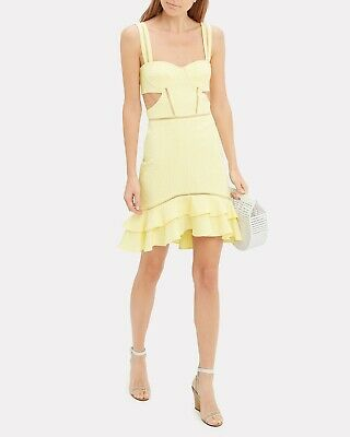 JONATHAN SIMKHAI Cut Out Dress Summer Sz 6 NEW $495