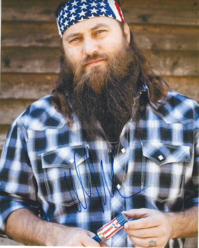 WILLIE ROBERTSON SIGNED AUTHENTIC 'DUCK DYNASTY' 8X10 PHOTO w/COA REALITY TV