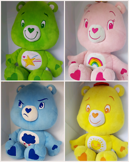 X4 Care Bears, Large,.authentic and original. $30 each.