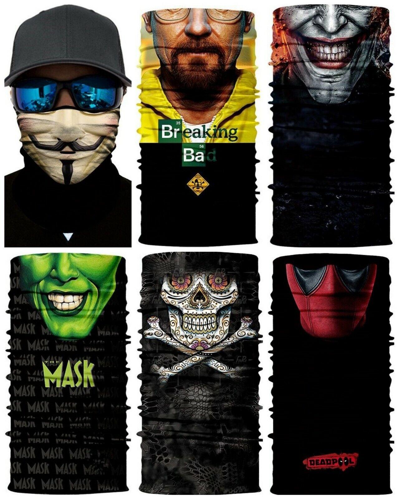 Gesichtsmaske Deadpool Joker Breaking Bad Motorrad Bike Paintball Angeln Jogging