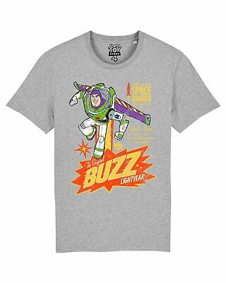 Disney Toy Story 4 Retro Buzz Lightyear Men's Grey T-Shirt