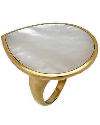 Ippolita Polished Rock Candy 18k Yellow Gold MoP Teardrop Ring GR308MOPSL
