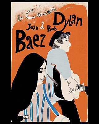 JOAN BAEZ & BOB DYLAN - Wall Art Poster of 1965 Concert - Photo
