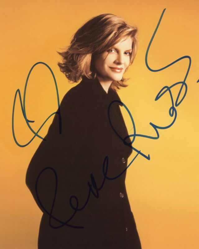 "Rene Russo ""The Thomas Crown Affair"" AUTOGRAPH Signed 8x10 Photo ACOA"