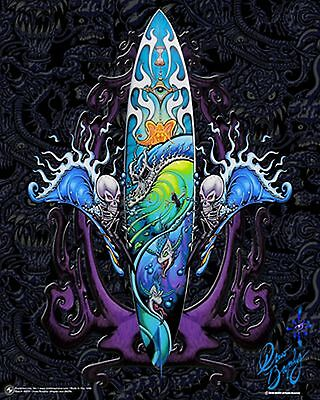 ART POSTER~Drew Brophy Abstract Surf Board Deck Paradise Skateboard New Print~