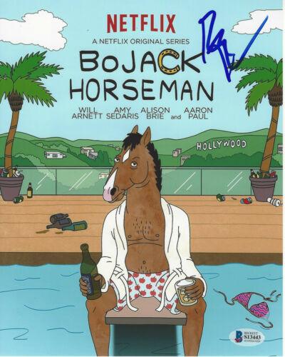RAPHAEL BOB-WAKSBERG BOJACK HORSEMAN CREATOR SIGNED 8X10 PHOTO 2 BECKETT COA BAS