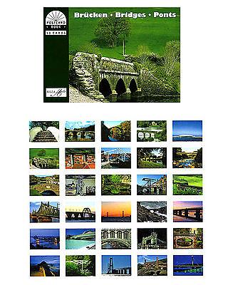 Postkartenbuch Brücken 30 Postkarten  Architektur, Bauwerke — NEU!