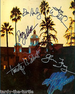 The Eagles 8 x 10 Autograph Reprint Glenn Frey Don Henley Joe Walsh Don Felder +