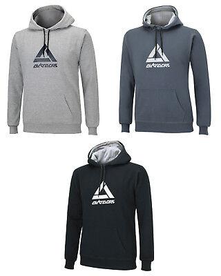 AIRTRACKS Sweatshirt Crew Team mit Kapuze und Zugband 100% Baumwolle Hoodie Band Sweatshirt
