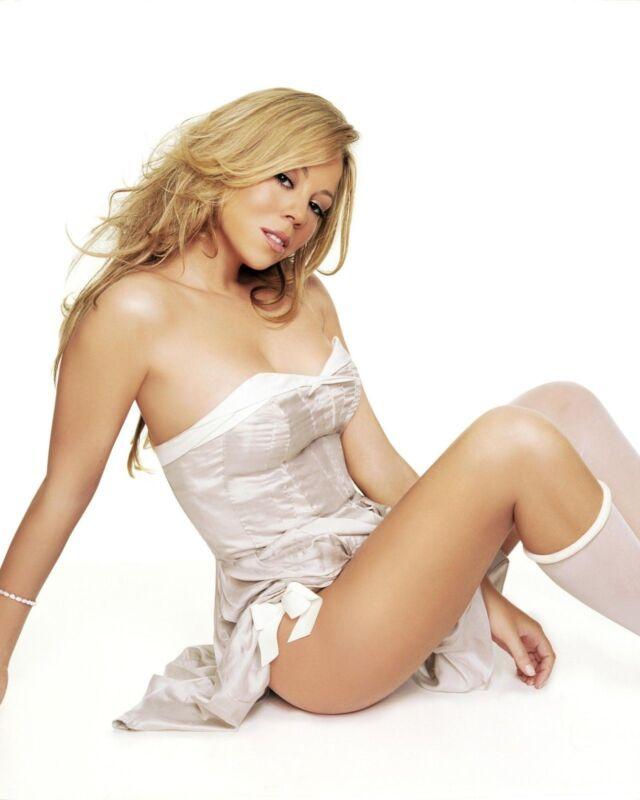 Mariah Carey White Dress  8x10 Photo Print
