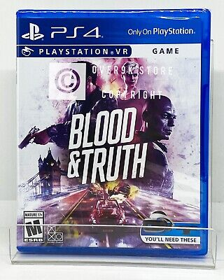 Blood & Truth PS VR - PS4 - Brand New   Factory Sealed