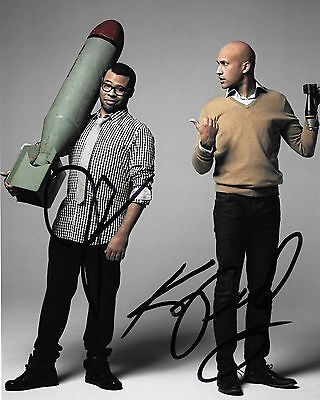 Jordan Peele And Keegan Michael Key Autographed 8X10 Photo  Reproduction  2
