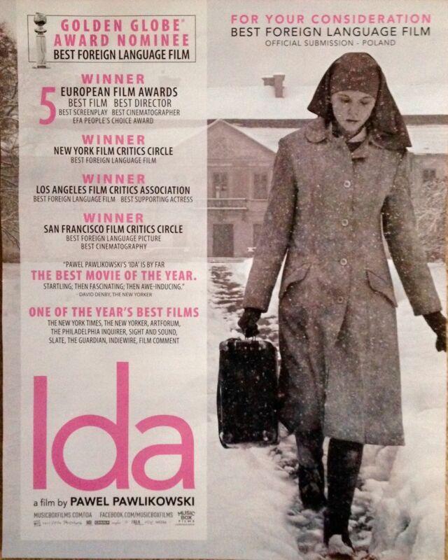 IDA Oscar Golden Globe advertisement Pawel Pawlikowski Agata Trzebuchowska ad