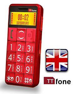 TTfone-TT002-Mercury-Senior-Easy-Simple-Basic-Big-Button-Mobile-Phone-RED-14Day
