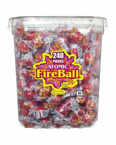 Atomic Fireballs Candy 4.05 Pound Bulk Bag Sweets Red Hot Flavor Jawbreakers