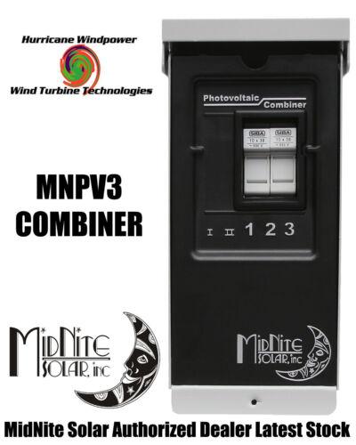 MIDNITE SOLAR MNPV3 PV COMBINER BOX FOR SOLAR PANEL WIND TURBINE WIND GENERATOR