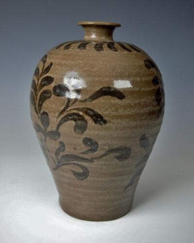 SUPERB KOREAN GORYEO DYNASTY PLUM BLOSSOM VASE Antique Maebyeong Celadon Korea