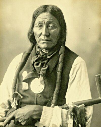 Native American- Indian Chief White Buffalo-Arapahoe-c1899- 8x10 Photo
