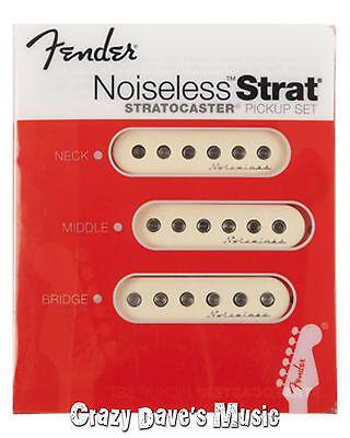 Fender Vintage Noiseless Strat White Pickup Set Stratocaster 099-2115-000 NEW