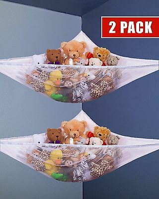 2ps Kids Toy Net Hammock Organizer Corner Stuffed Animals Hanging Storage new