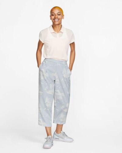 NWT $100 Nike WOMENS GOLF PANTS  MEDIUM M Dri-FIT UV Pure Platinum Golf Pants