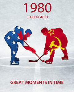 1980 Lake Placid Miracle On Ice Ad Poster - 8x10 Photo