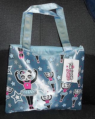 Ballerina Bag (NWT DANCE TOTE BAG Blue Panda Ballerinas Satin Finish zipper closure Girls)