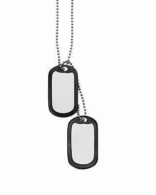 MIL-TEC Army Erkennungsmarken Satz blank mit Silencer Dog Tags Erkennungsmarke