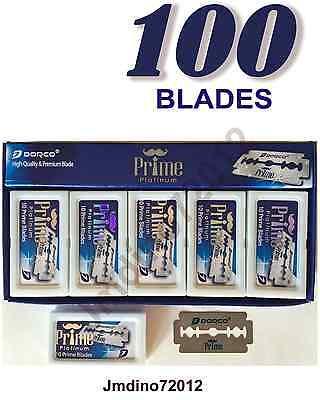 100 Dorco Prime Platinum Double Edge Razor Blades-Barber Favored