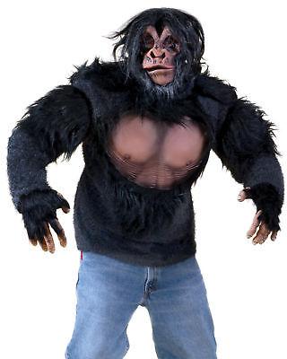 Schimpanse Hemd Affe Affe Gorilla Brust Kostüm Plüsch Biest Halloween