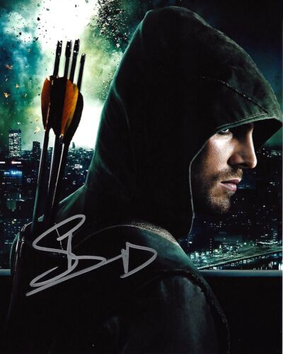ACTOR STEPHEN AMELL SIGNED 'ARROW' 8x10 INCH PHOTO W/COA TMNT OLIVER QUEEN