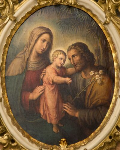 """Catholic print picture-  HOLY FAMILY SH5  -   8"""" x 10"""" ready to be framed"""