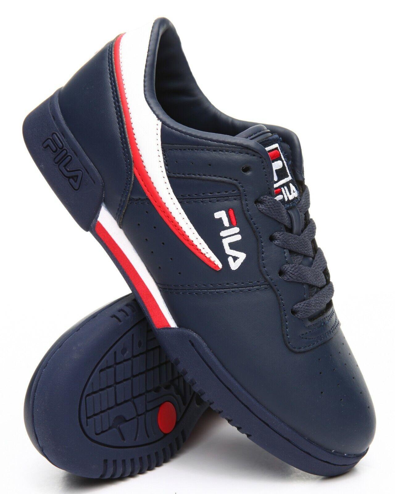 Fila Original Fitness Navy Blue White Red Mens Sneakers Tenn
