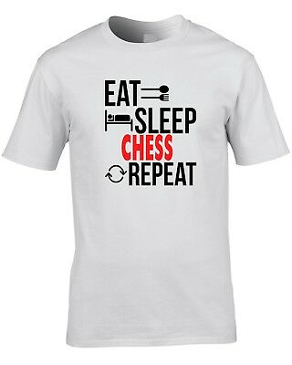Chess Player T Shirt Eat Sleep  Repeat  Gift Idea Present Rapid Check Mate