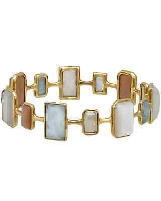 Ippolita Rock Candy 18k Yellow Multi-colored Stones & MoP Bracelet GB631SILKRD