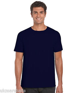 5 Pack Gildan Softstyle Plain Mens T Shirt 100% Cotton 30 Colours Blank 36 - 52
