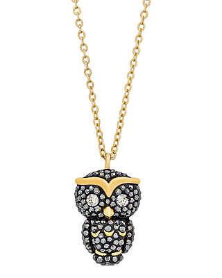 Swarovski Owl Gold-Plated Black Swarovski Crystal Necklace 5366714 BEST PRICE