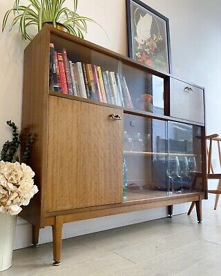 Mid century retro vintage Nathan bookcase/display/drinks cabinet