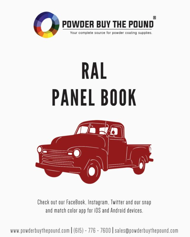 Powder Coating Sample Panel Book - RAL Colors - 202 Sample Panels