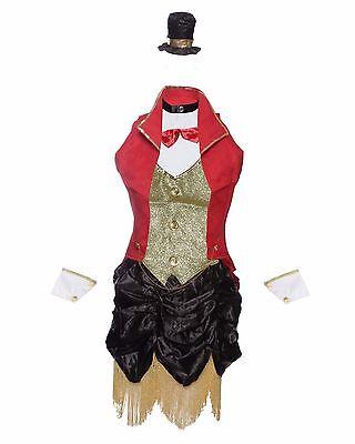Ringmaster Circus Fancy Dress Costume Ladies UK Sizes 8-14