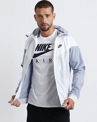 Rare Nike Windrunner Jacket Windbreaker Nylon Glanz Gray White Silver Small