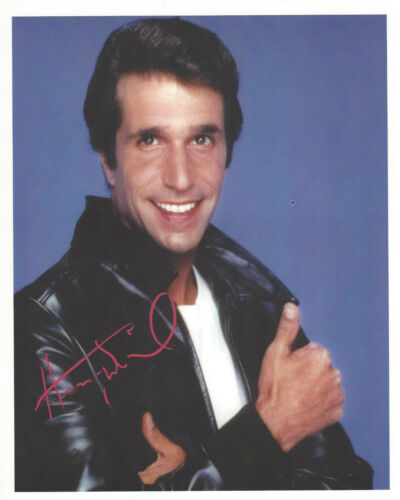 The Fonz Henry Winkler autographed 8x10 great color   photo
