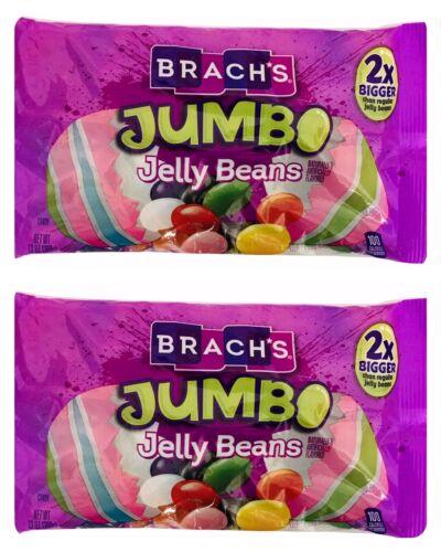 2X Brachs JUMBO 2X Bigger Than Reg Jelly Beans Chewy Candies 13 oz X-10/27/2021