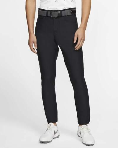 Nike Mens Slim Fit 6 Pocket Slim/Dri Fit Black Golf Pants-New-34/30 BV0278-010