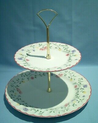 JOHNSON BROTHERS SUMMER CHINTZ,2 Tier CAKE STAND.VGC