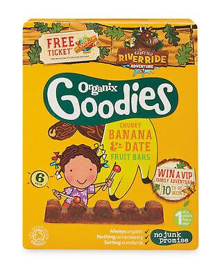 Goodies Date & Banana Chunky Fruit Bars 12m+ (6x17g) (Pack of 6) 12 Pack Organic Food Bar