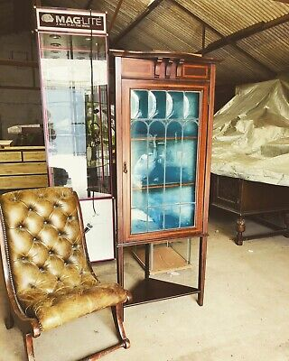 Antique Edwardian Gentlemans Curios Corner Quirky Cabinet delivery Available