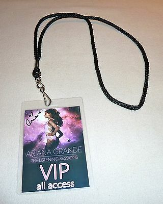Ariana Grande Signed The Listening Sessions Vip All Access Backstage Pass Tour