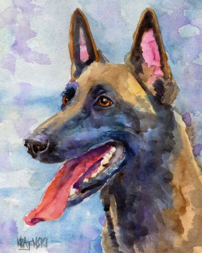 Belgian Malinois Gifts | Art Print from Painting, Poster, Picture 11x14